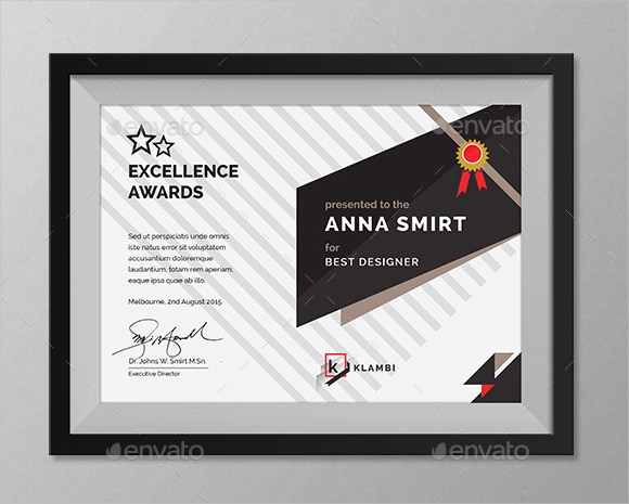 FREE 36+ Award Certificate Templates in Examples, Samples ...