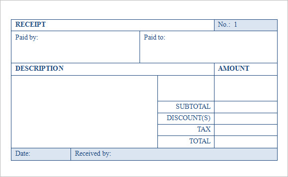 Receipt for Goods or Services  Template amp Sample Form
