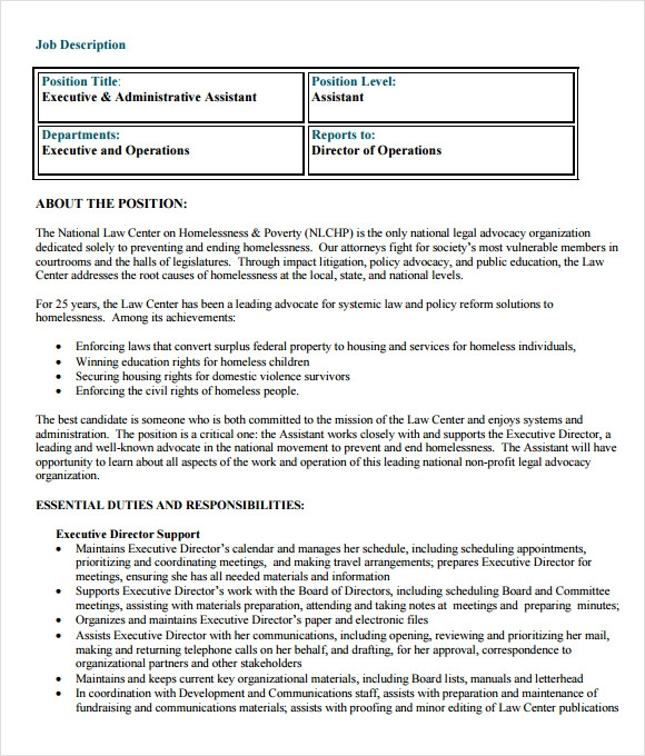 free administrative assistant resume best administrative