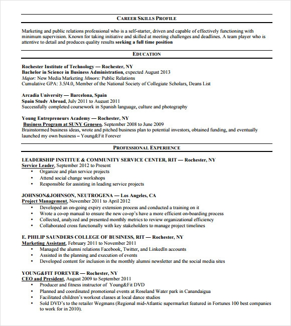 free consultant resume template - Business Consultant Resume Sample
