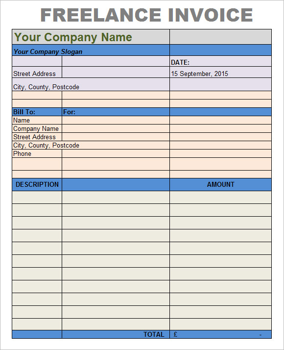 8 Freelance Invoice Templates Free Samples Examples