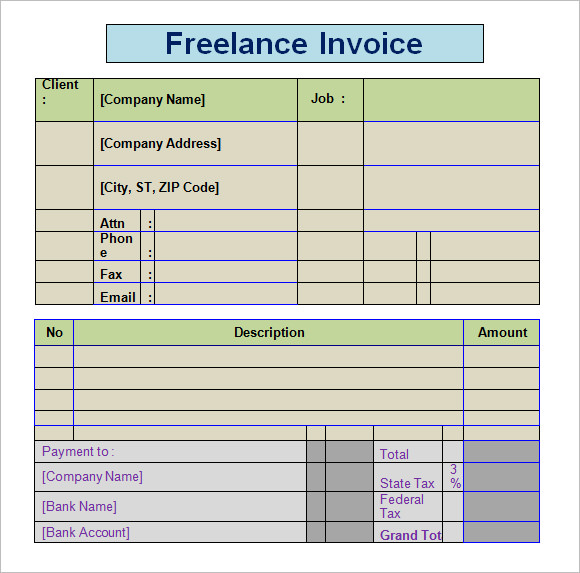 Invoice Template Freelance  BesikEightyCo