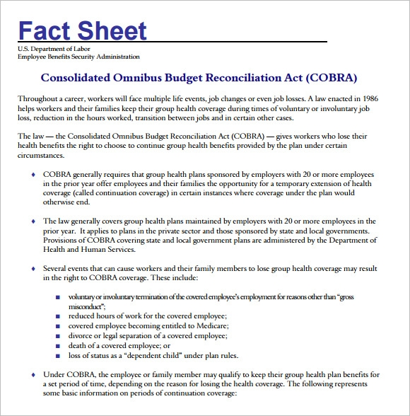 Fact Sheet Template     12  Download Documents in PDF Word l9apmnBT