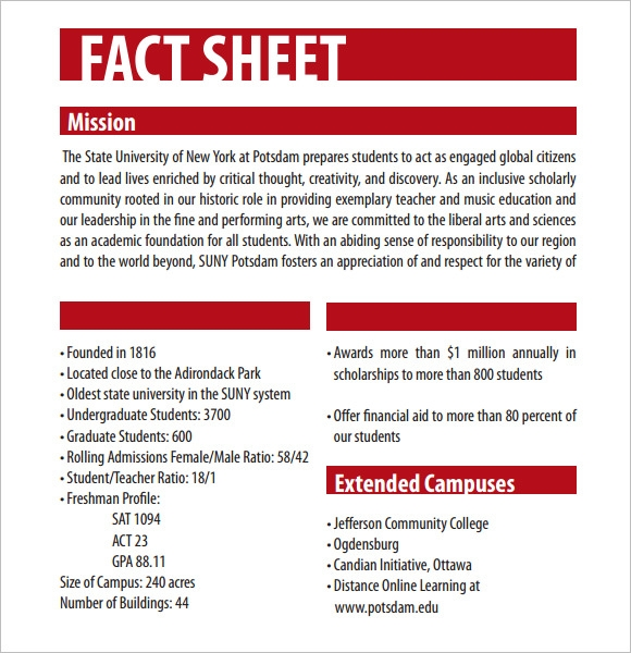 fact sheet template  u2013 12  download documents in pdf   word