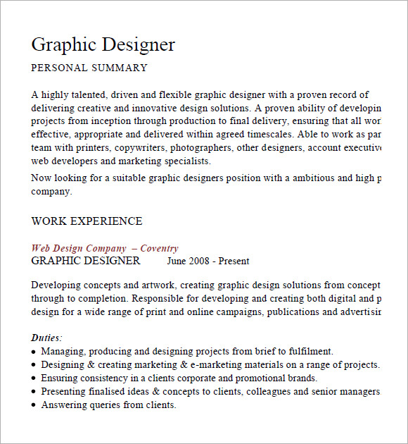 resume graphic design resume examples pdf designer resume 7 free samples examples format graphic cv example