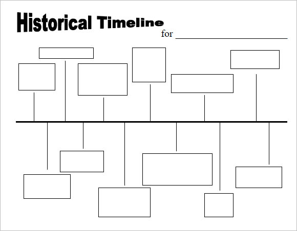 Timeline Template Printable | 9 Timeline Templates For Kids Samples Examples Format