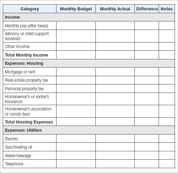 personal budget template | datariouruguay