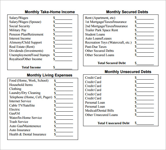 Sample Household Budget - 10+ Documents In Pdf, Word