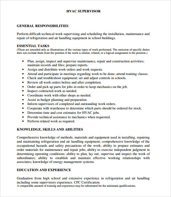 hvac resume samples hvac resume samples