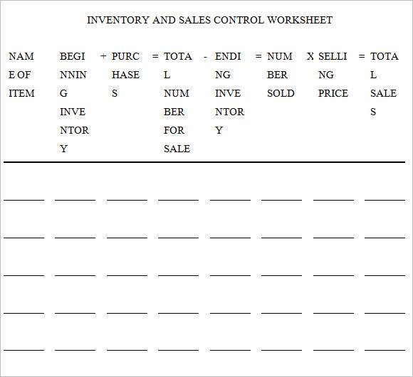 inventoryandsalesworksheet