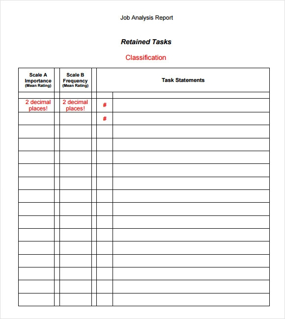 Sample Analysis Report Template   Free Document In Pdf