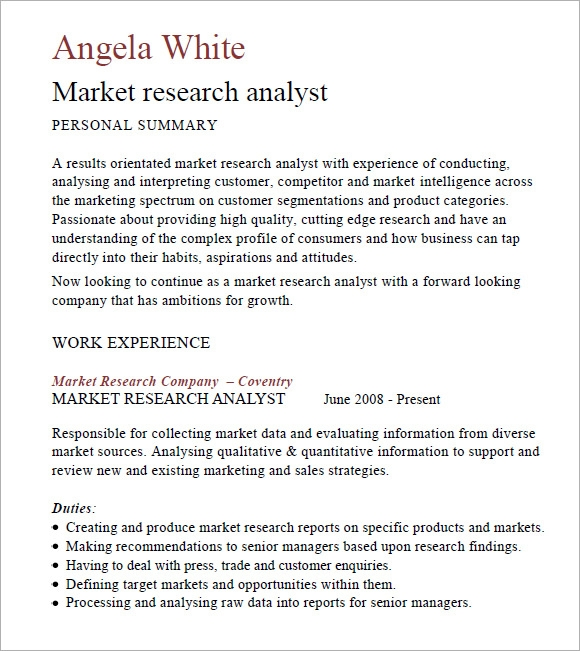 marketing analyst resume –   free samples  examples  formatmarket research analyst cv pdf