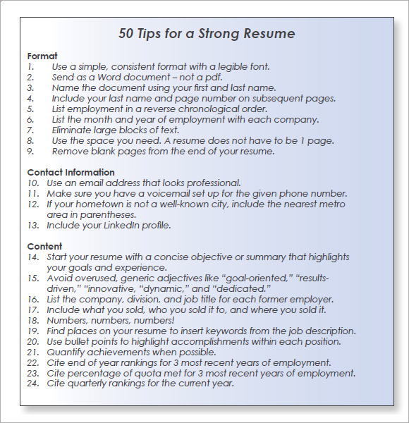 10 sales resume templates  u2013 free samples  examples