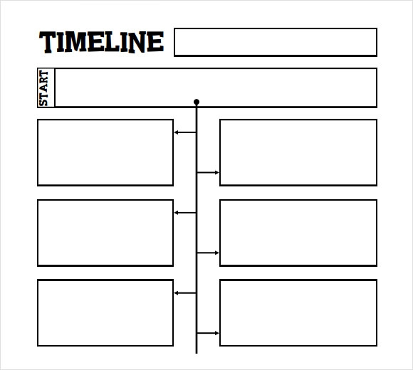 how to make a simple timeline in word