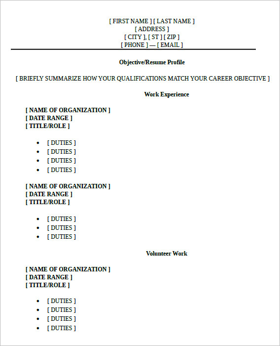 10 high school resume templates  u2013 free samples   examples