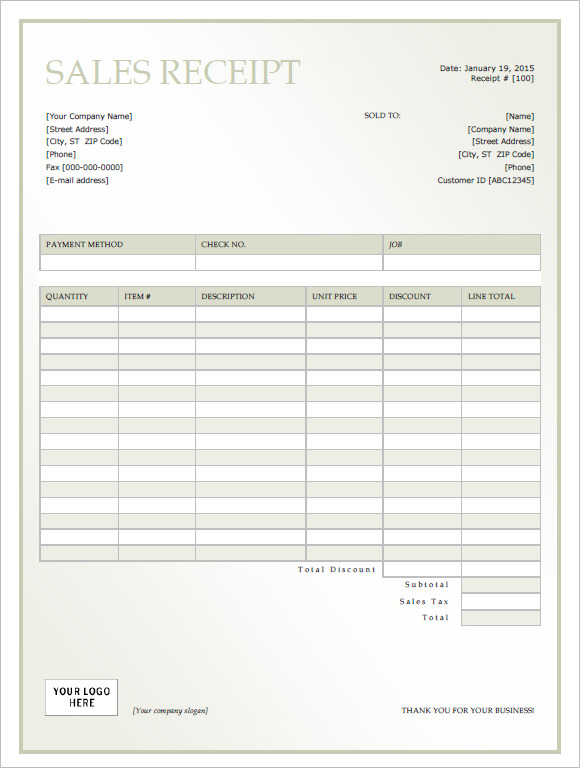 private car sale receipt template .