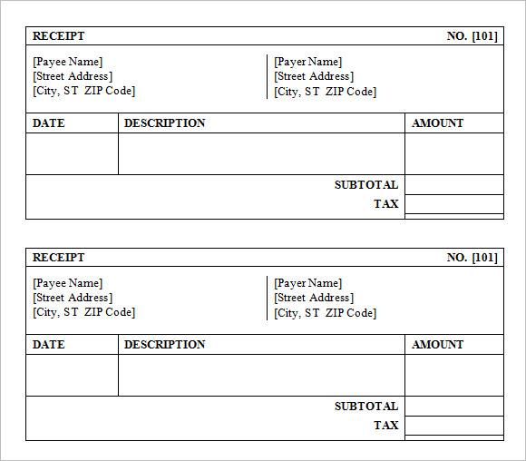 goods receipt template .
