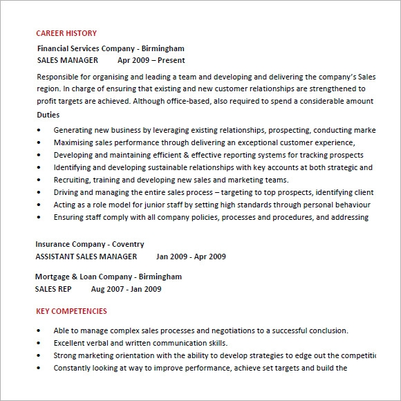 resume format marketing