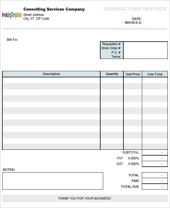 free 10  consulting invoice samples in google docs