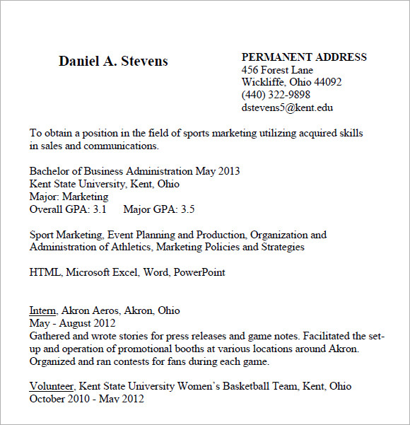 cover letter and resume examples pdf