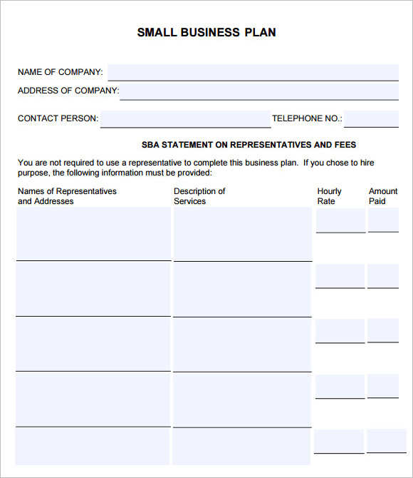 17 small business plan samples sample templates simple small business plan template download sba accmission Image collections