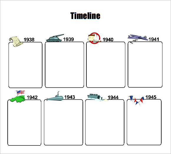 Sample Timeline Template For Kid Or A Simple One Page Timeline