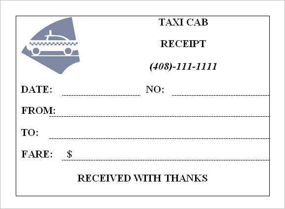 17 Taxi Receipt Template Free Samples Examples Format – Free Printable Receipts for Services