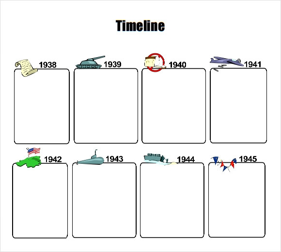 Timeline Template For Kids PDF