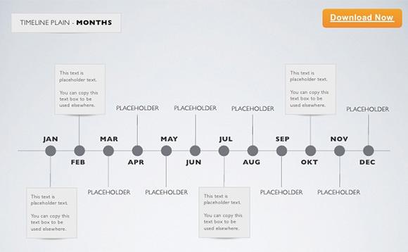 timeline template keynote