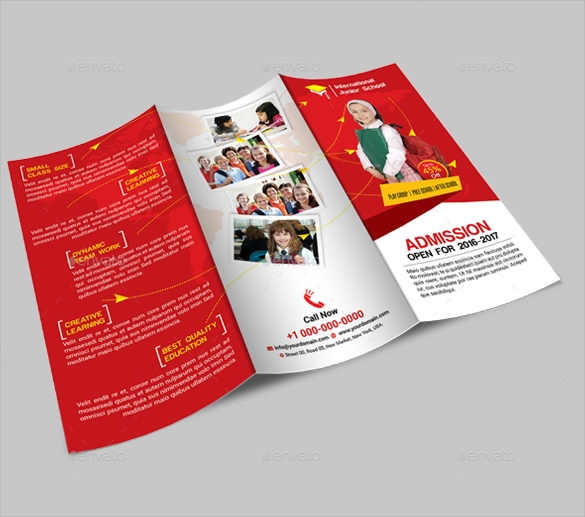 10 preschool brochure vector eps psd for Preschool brochure template