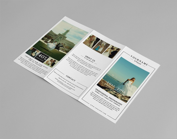 beautiful photography trifold brochure