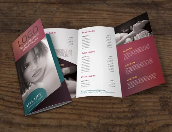 attractive tri fold brochure
