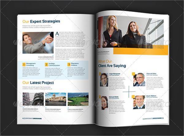 easy editable business brochure