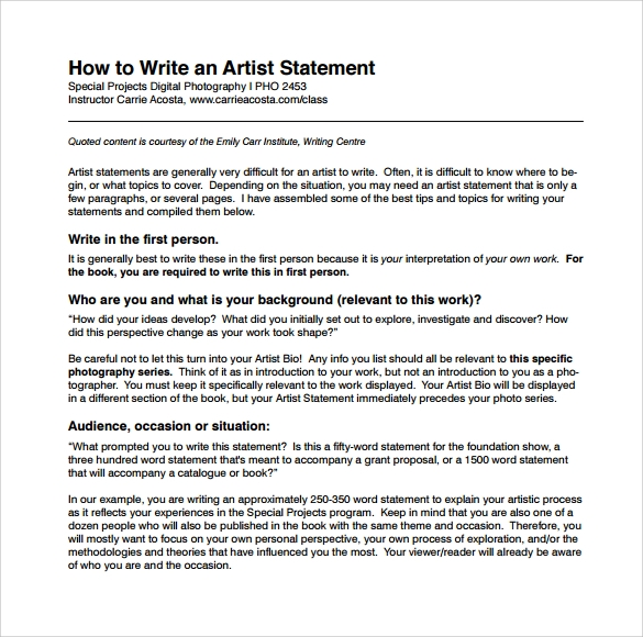 how to write a statement Small business - chroncom, accessed 01 april 2018 rafner, don (nd.