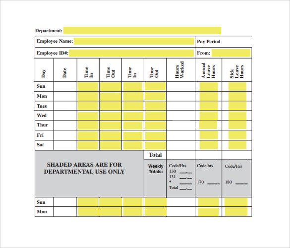 biweekly payroll time sheet