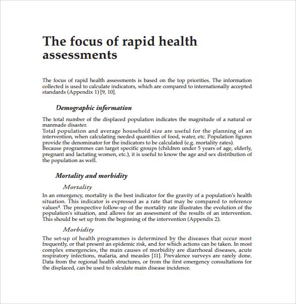 rapid health assessment %ef%bb%bf