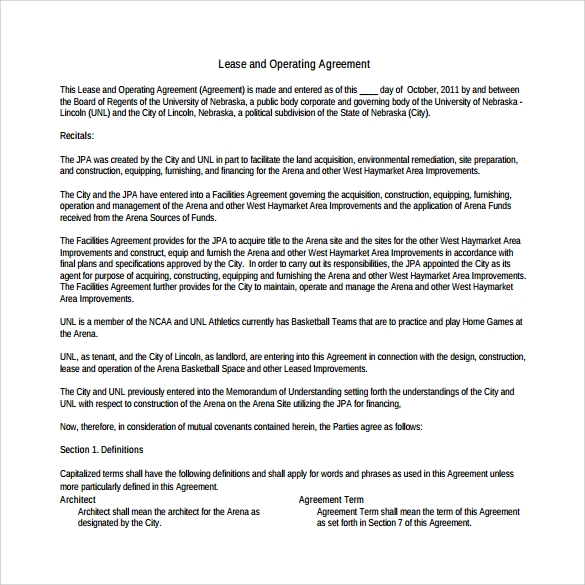 operating agreement to print