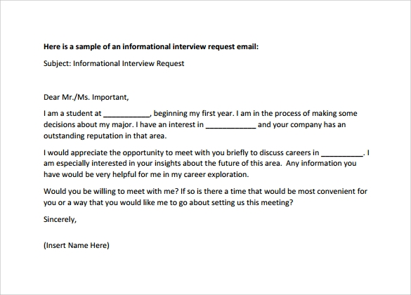 sample professional interview email letter