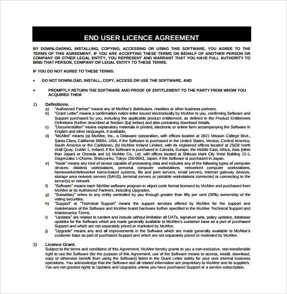 License Agreement Template Solarfm