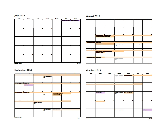 Annual Calendar - 9+ Free Samples, Examples, Format