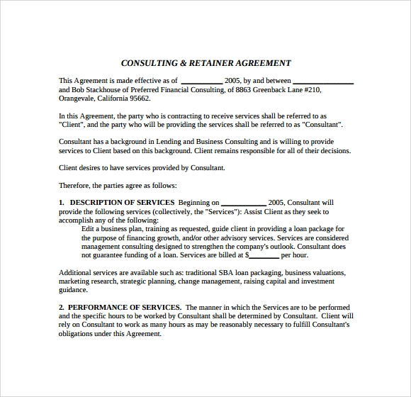 consulting agreement to download
