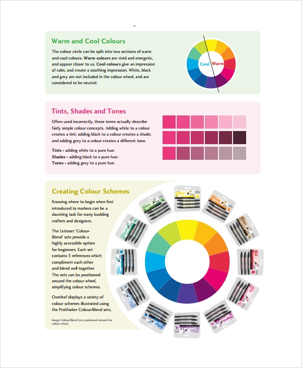 Sample Color Wheel Chart 7 Documents In PDF Word – Sample Color Wheel Chart