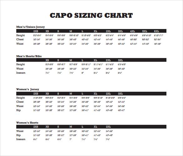 Sample Capo Chart 9 Documents in PDF – Capo Chart