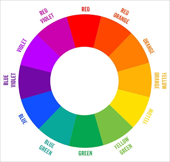 Sample Color Wheel Chart. 5Pcs/Lot Natural Nail Art Display Board