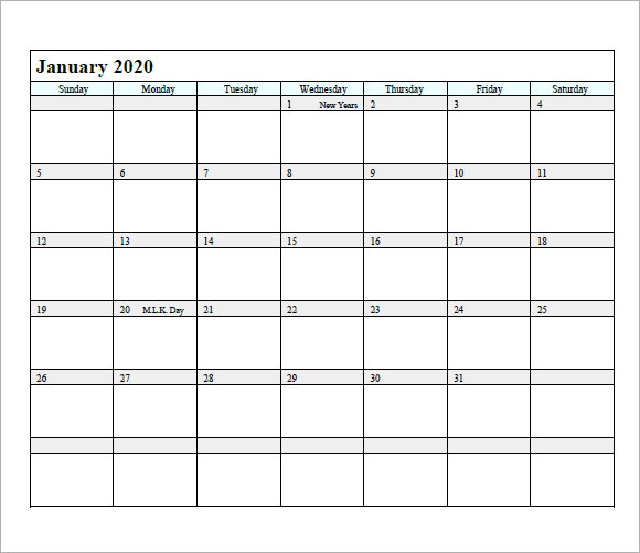 free 14  monthly calendar templates in free samples