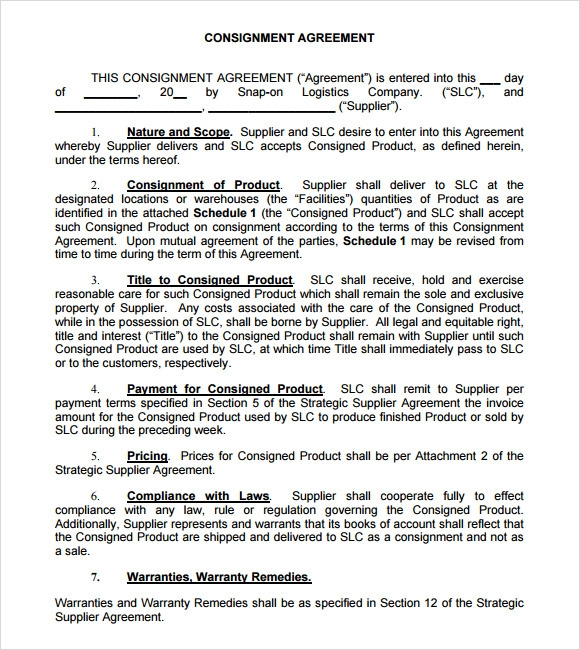Pdf For Clothing Consignment Agreement Pictures to Pin on – Consignment Legal Definition
