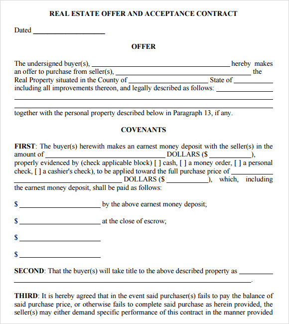 Real Estate Purchase Agreement   9  Free Samples Examples Format v9Wusu5T