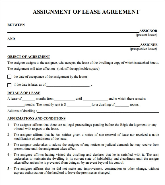 9+ Sample Lease Agreements  Sample Templates
