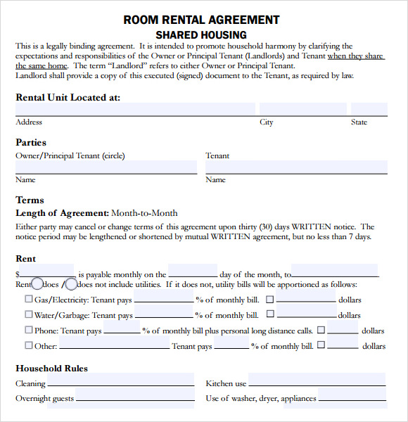 housing lease template 10 sample house lease agreements sample templates