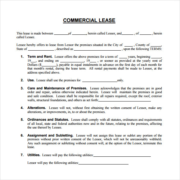 Business Rental Agreement Illinoismonthlylease Free Illinois
